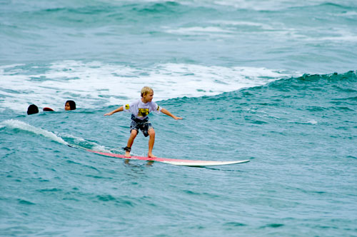 Surf lessons on the north shore