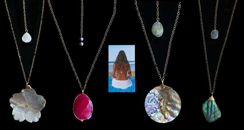 Various necklaces with drops by L. Bleu