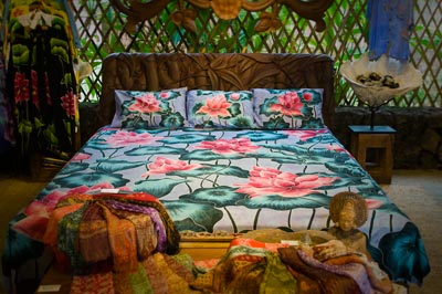 Coconut Style's bedding in blues and greens
