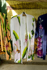 Coconut Style's rayon batik kimono in white