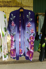 Coconut Style's rayon batik kimono in purples
