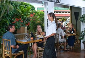 Dining at The Lighthouse Bistro, Kilauea Kauai