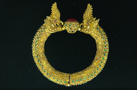 Lotus Gallery's Antique Burmese Dragon Bracelt