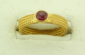 Lotus Gallery's Woven Ruby Ring