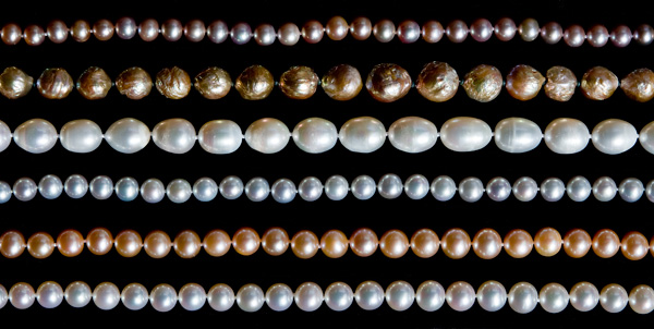 Assortment of Pearls at Lotus Gallery