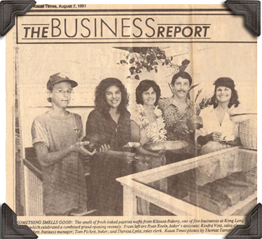 newspaper clipping from 1991 announcing the grand opening