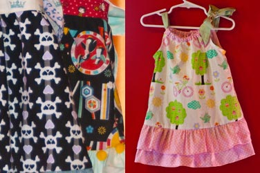 Pint Sized in Paradise, a local children's clothing designer's fun patterns and dress.
