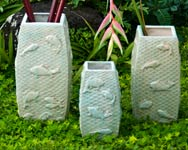 Koi Relief Vases