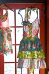 A beautiful hoto of Funktion's funky aprons.