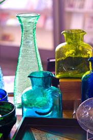 Blenko Glass on display at Kong Lung Trading