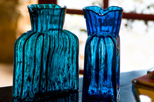Blenko Glass Watercraft water pitchers