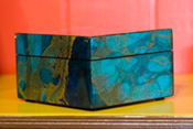 Lacquer Box with Ocean Blue Paper inlay