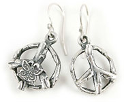 peace sign earrings by Moonbox Studios