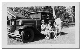 Rapozo family and their Model A