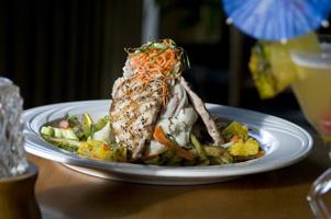 Grilled Pork at The Lighthouse Bistro, Kilauea Kauai