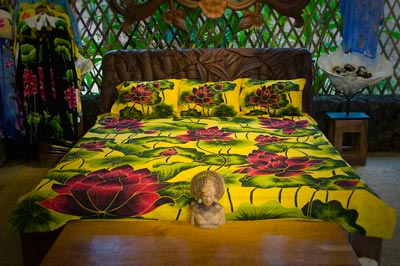 Coconut Style's bedding in yellows