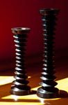 Ebony candlesticks by Outpost Original