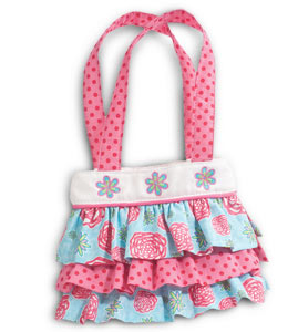 A children's tote bag with a floral pattern by Douglas Plush Toys
