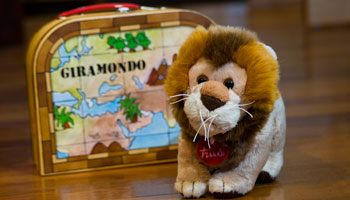The cutest lion from Trudi, an Italian designer