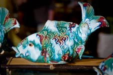 Ceramic Koi with Flambe Glaze