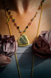 Drusy Necklace by Heather Benjamin